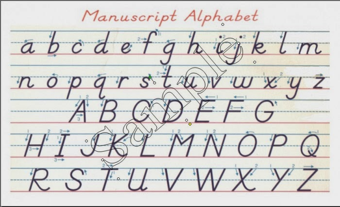 Cursive Handwriting Alphabet Chart