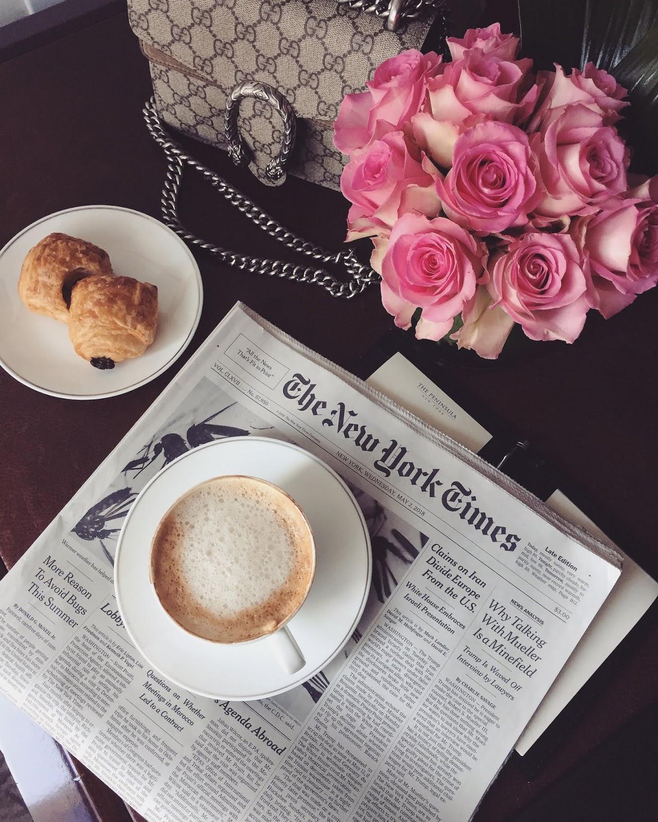 New York City travel diary peninsula hotel breakfast New York Times