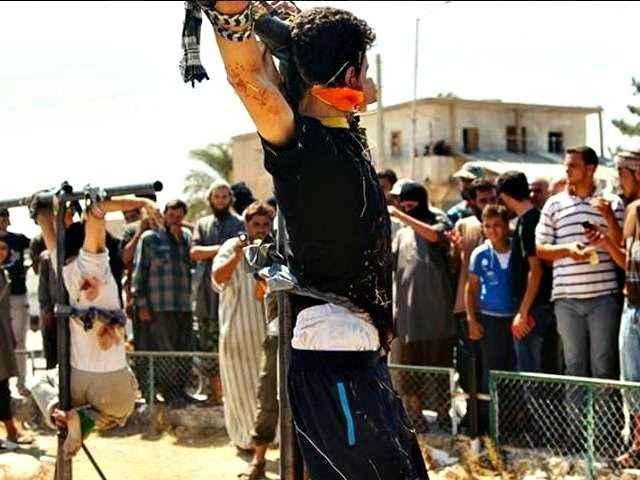 Crucifixões praticadas pelo Estado Islâmico