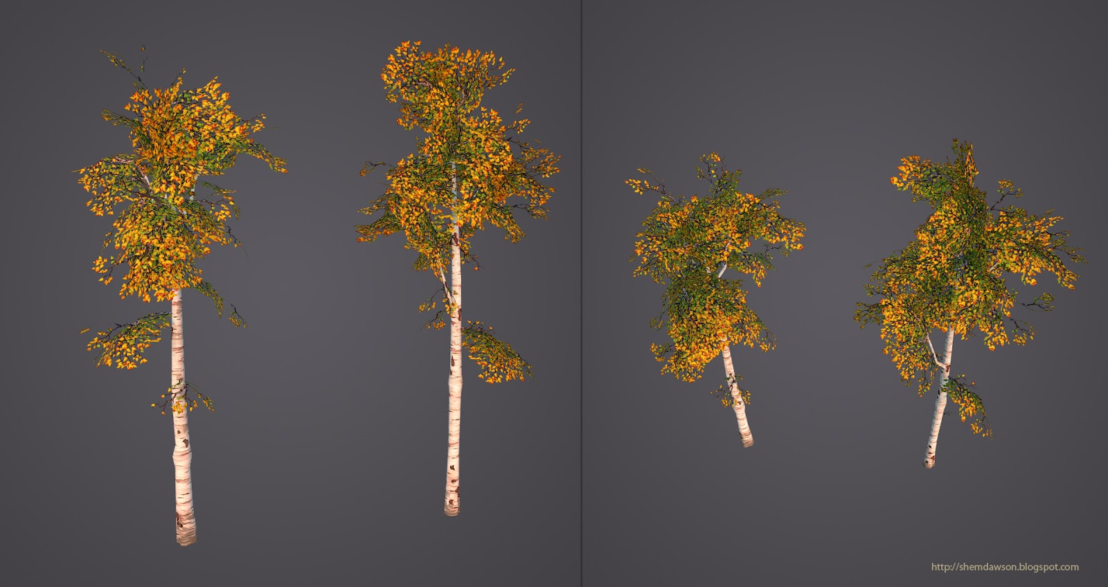 The Art Of Shem Dawson: Painted Low Poly Pine Trees