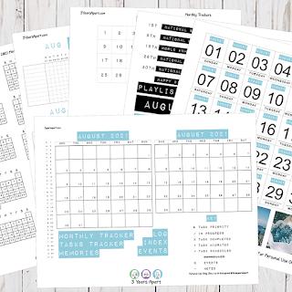 August 2021 Bullet Journal / Planner Free Printable Stickers!