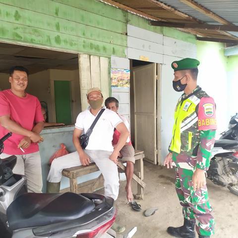 Cegah Penyebaran COvid-19 Diwilayah Binaan, Personel Jajaran Kodim 0207/Simalungun Laksanakan Gakplin