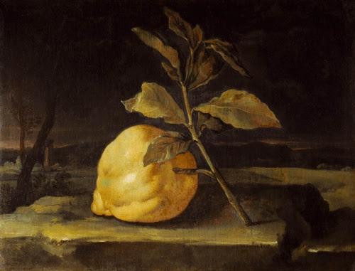 Filippo Napoletano (attribuito),  Natura morta con un cedro