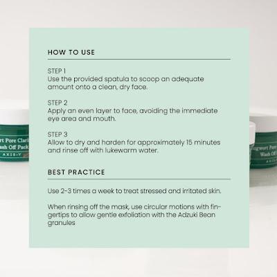 Cara Penggunaan AXIS-Y Mugwort Pore Clarifying Wash Off Pack