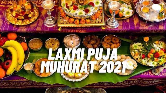 2021 Diwali Pooja Time and Shubh Muhurat for Laxmi puja