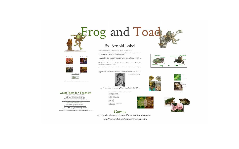 Kinder Garden: Kindergarten: Holding Hands And Sticking Together: Frog