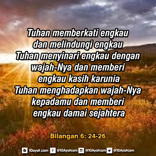 Bilangan 6: 24-26