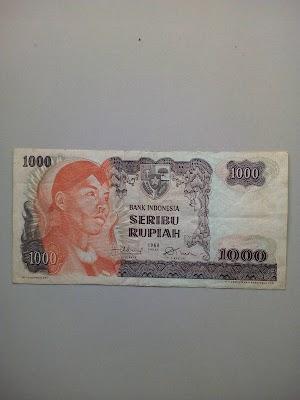 1000 rupiah tahun 1968
