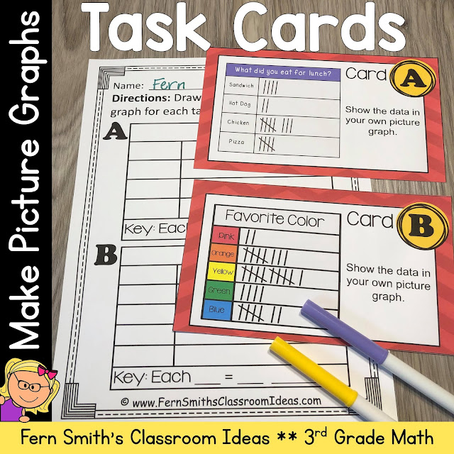 Download This Make Picture Graphs Task Cards to Use in Your Classroom Today!