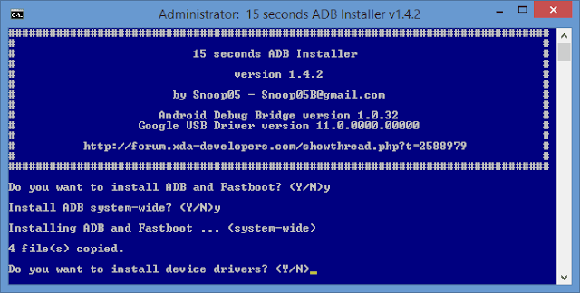 Download ADB, Fastboot and Drivers For windows Universal 32 & 64 Bit