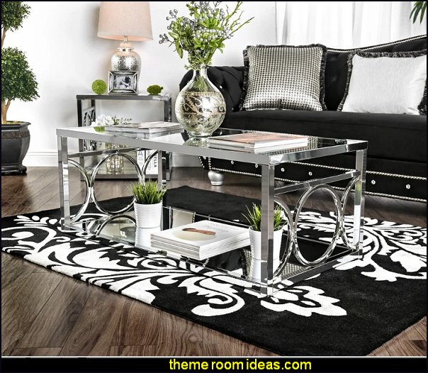 Silver Orchid Pehrson Contemporary Glass Top Coffee Table - Chrome Finish luxe glam
