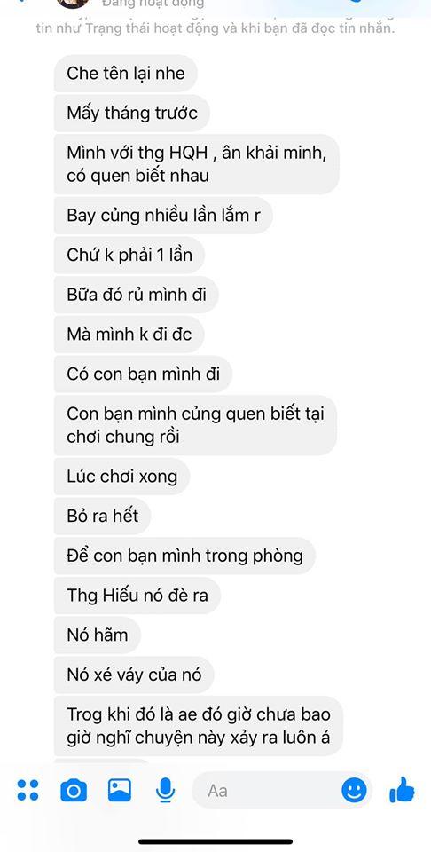 """Phốt rủ rê """"đi bay"""" hại đời con gái chưa nguội, Hồ Quang Hiếu lại tiếp tục bị tố """"xé váy hiếp tại chỗ"""""""