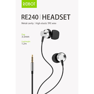 Handsfree Robot RE240 Wired Headset High-Definition Sound Quality