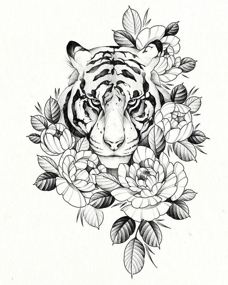 tato bunga dan macan