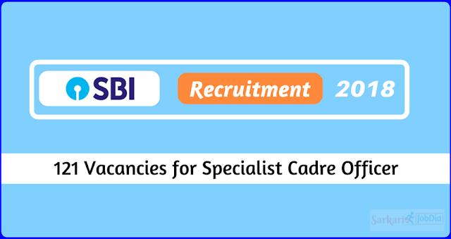 SBI Bank 2018 Recruitment Specialist Cadre Officer