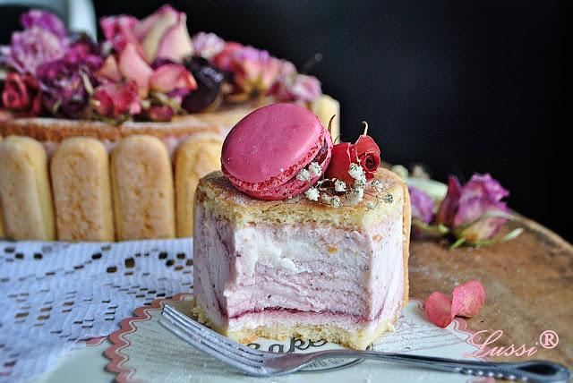 Торта Шарлота с ягоди и Честит Рожден Ден на мен