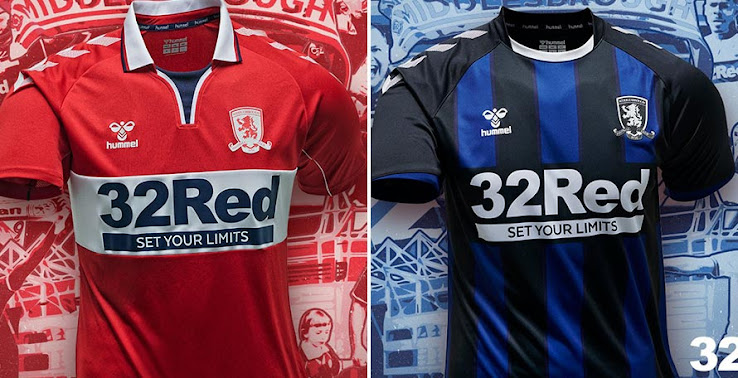 Middlesbrough 20-21 Home & Away Kits Released - Footy Headlines
