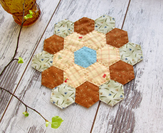 Hexagon napkins, лоскутное шитье