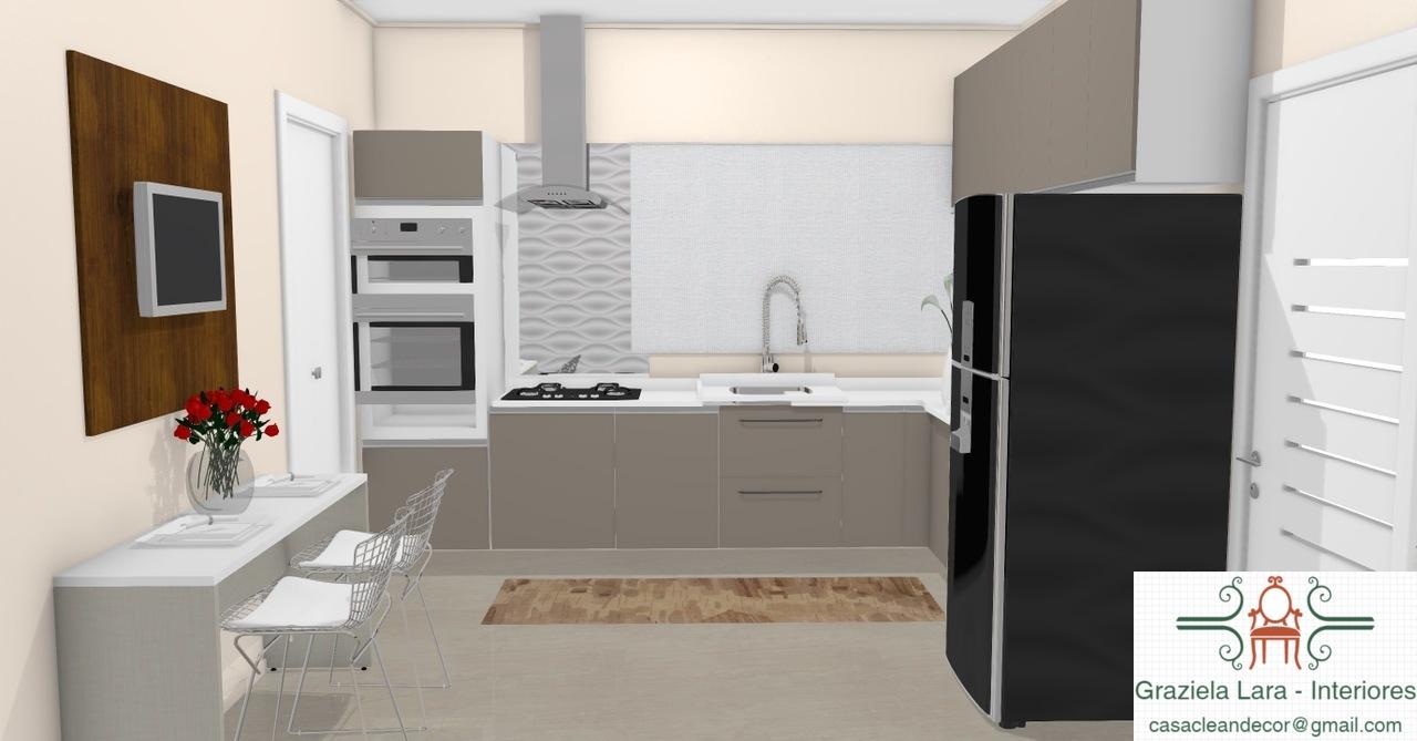 Construindo Minha Casa Clean Consultoria De Decora O 3d  ~ Banqueta Inox Para Cozinha Acozinha Com Cooktop Branco