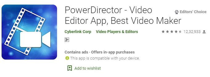 PowerDirector – Video Editor App, Best Video Maker