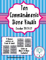 http://www.biblefunforkids.com/2015/08/ten-commandments-visuals.html