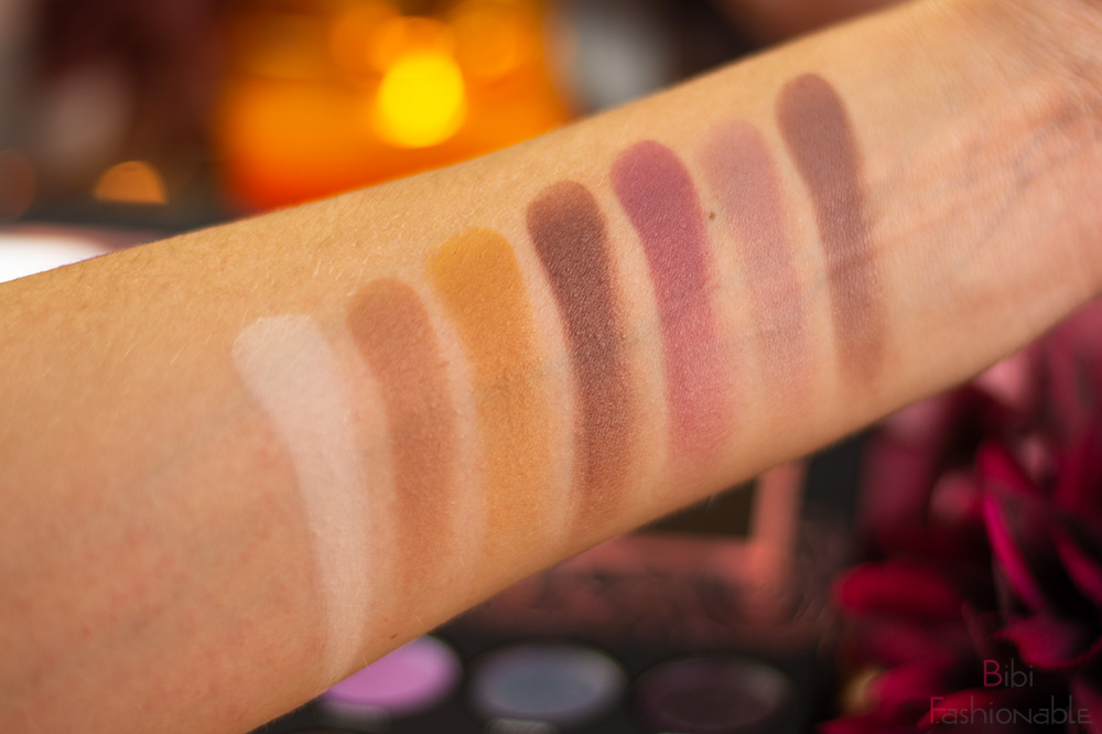 bh-cosmetics-x-Alycia-Marie-1991-Shadow-Palette-Swatches-matte-Farben