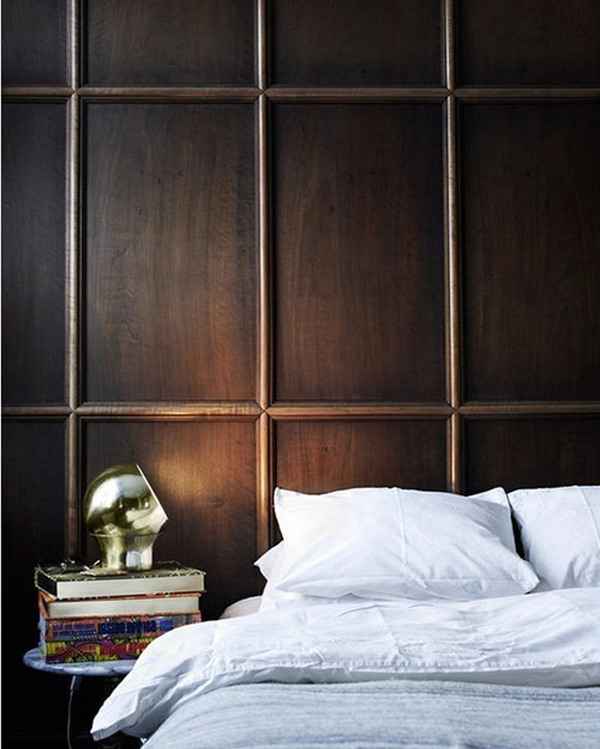 A Dark Cozy Moody Masculine Bedroom Lots Of Wood Dark: 5 Bedrooms Styles We Love Right Now