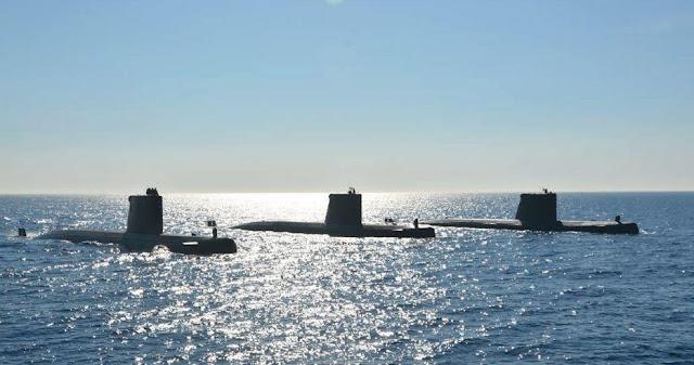Los submarinos 'Galerna', 'Tramontana' y 'Mistral de la Armada Española serán sustituidos por la nueva clase S-80 diseñada y construida por Navantia. Foto - Armada Española.