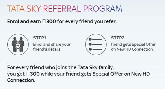 Do you have TATA Sky? Then Enrol and earn Rs.300