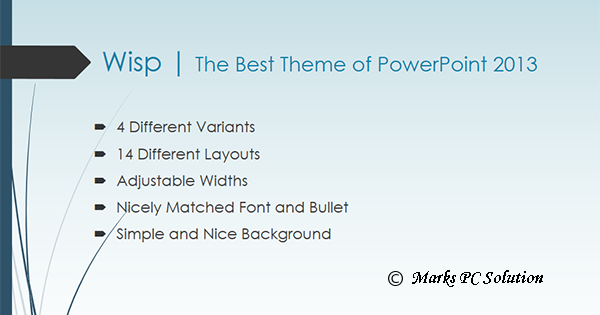 wisp theme powerpoint