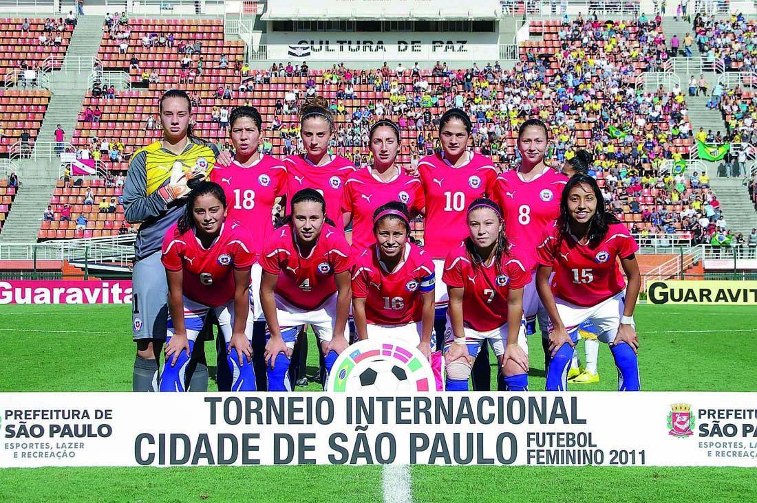 Formación de selección femenina de Chile ante Brasil, Torneio Internacional Cidade de São Paulo 2011, 11 de diciembre