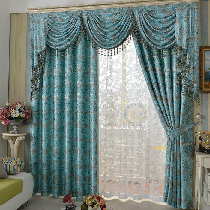 Faux Suede Curtains Jacquard Pattern Blackout Curtain, curtainsmarket