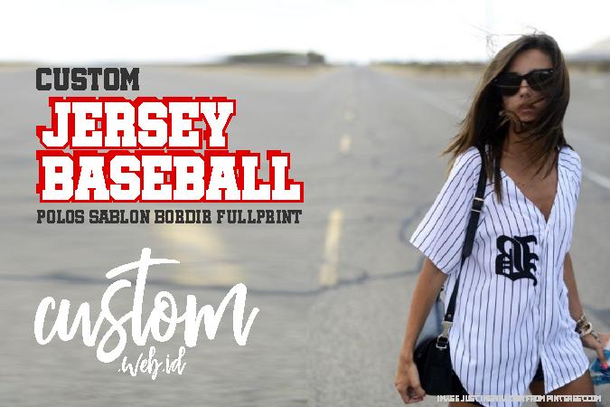 Baju Jersey Baseball Termurah Desain Strip Printing