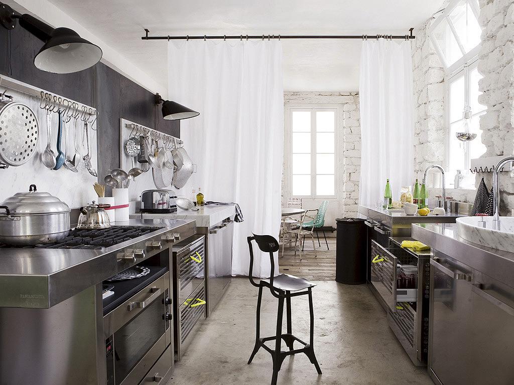industrial kitchen design. Black Bedroom Furniture Sets. Home Design Ideas