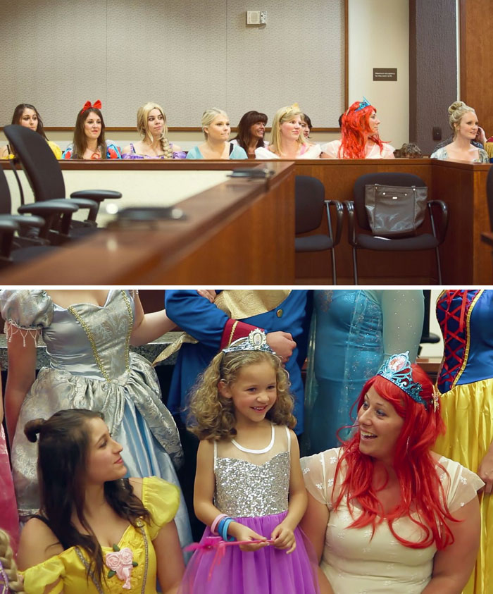 40 Times 2016 Restored Our Faith In Humanity - Entire Courtroom Dresses As Disney Characters For 5-Year-Old Girl's Adoption Hearing