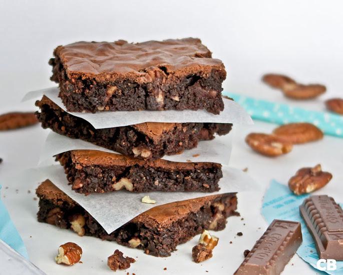 Recept Brownies met melkchocolade en pecannoten