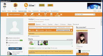Pagina de perfil personal en Odnoklassniki