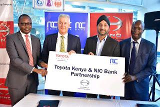 NIC Bank Partners With Toyota Kenya
