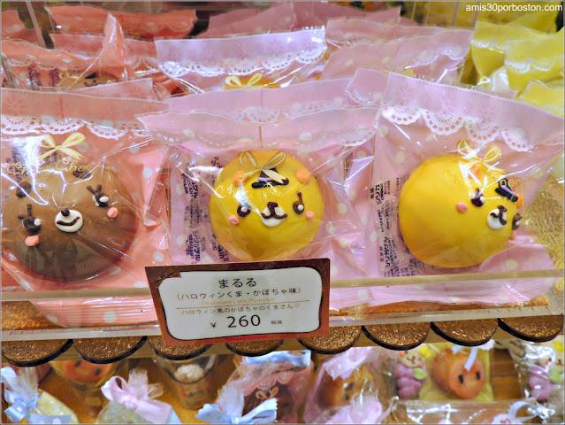 Chocolate Cake Pumpkin en un Comercio de Takeshita Street, Tokio