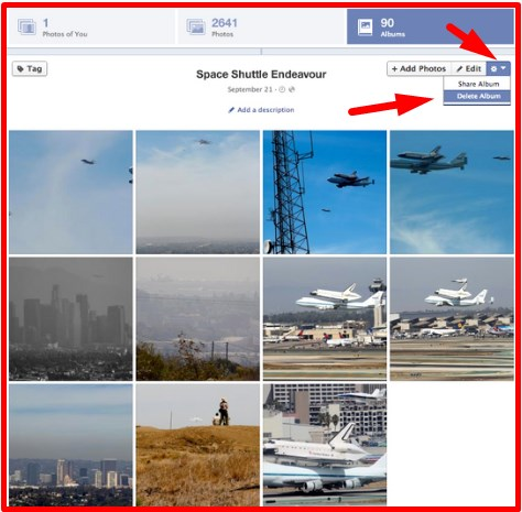 how to remove a photo from facebook profile