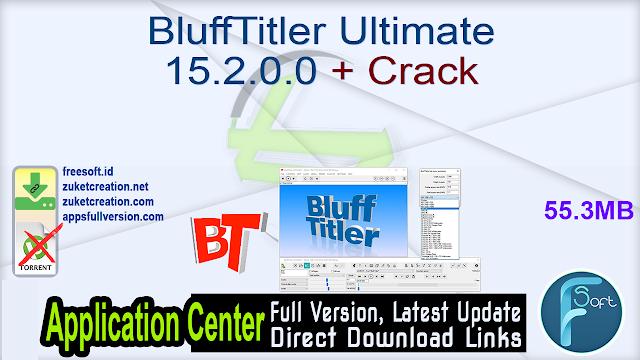 BluffTitler Ultimate 15.2.0.0 + Crack