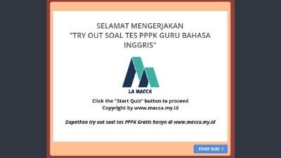 Tryout CPNS Online Gratis PPPK Guru Bahasa Inggris