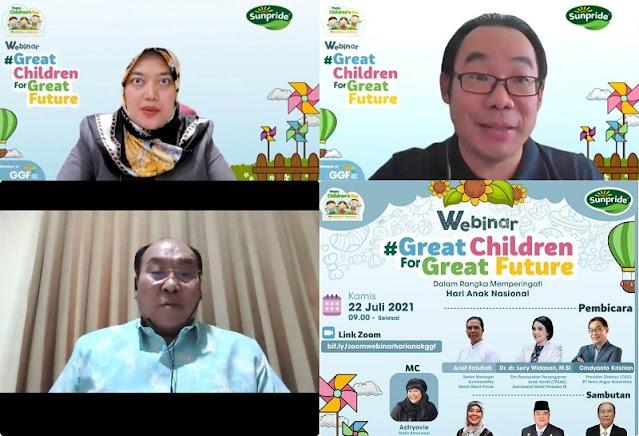 Hari Anak Indonesia 2021, GGF Gelar Webinar Great Children for Great Future