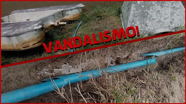 Canos que abastecem a zona rural de Panelas são alvo de ações de vandalismo