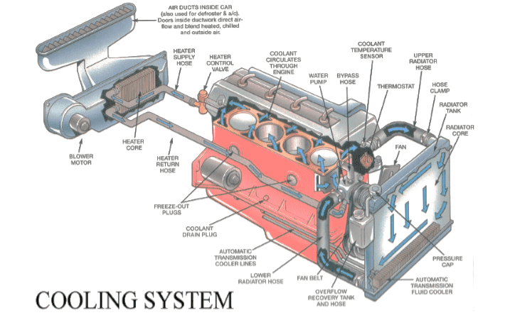 Components of car engine cooling system - Autocar-InspectionAutocar-Inspection
