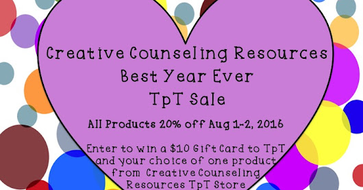 The Creative Counselor: Creative Counseling Resources Best Year Ever TpT Sale