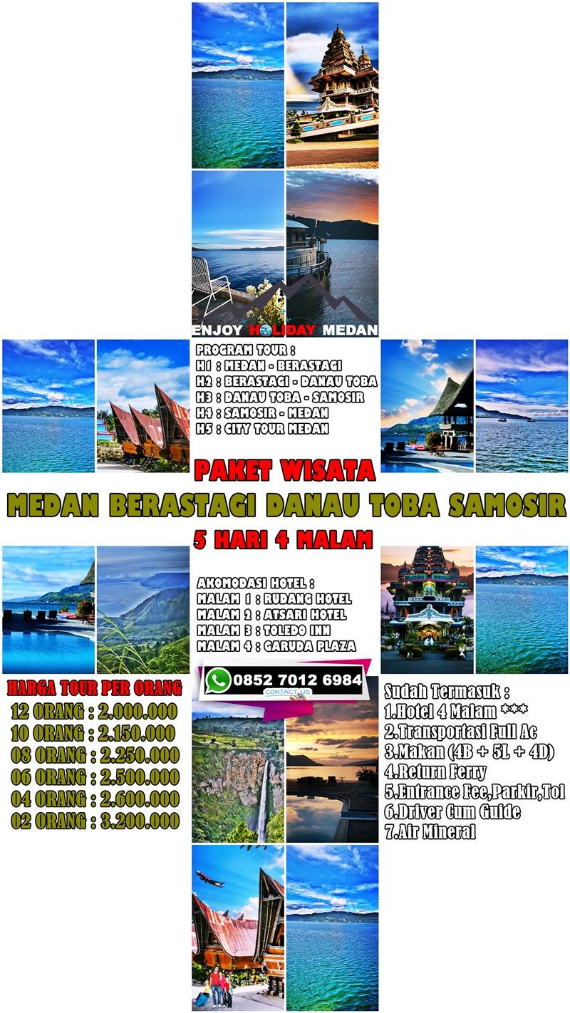 5D4N Medan Lake Toba Samosir Berastagi Tour