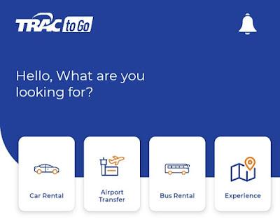 TRAC To Go, Aplikasi Rental Mobil