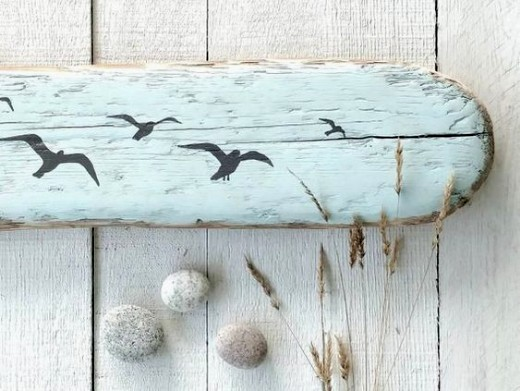 Driftwood Beach Art Painting