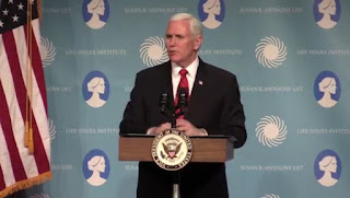 Vice President Mike Pence attended a luncheon in Nashville hosted by the Susan B. Anthony List and Life Institute
